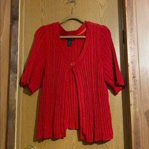 Red Sweater Cardigan Size 18/20 Lane Bryant